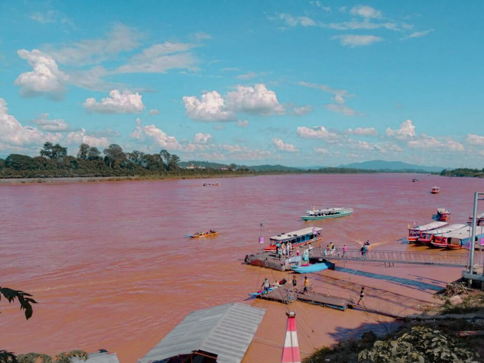 The river separating Laos and Thailand at the Golden Triangle