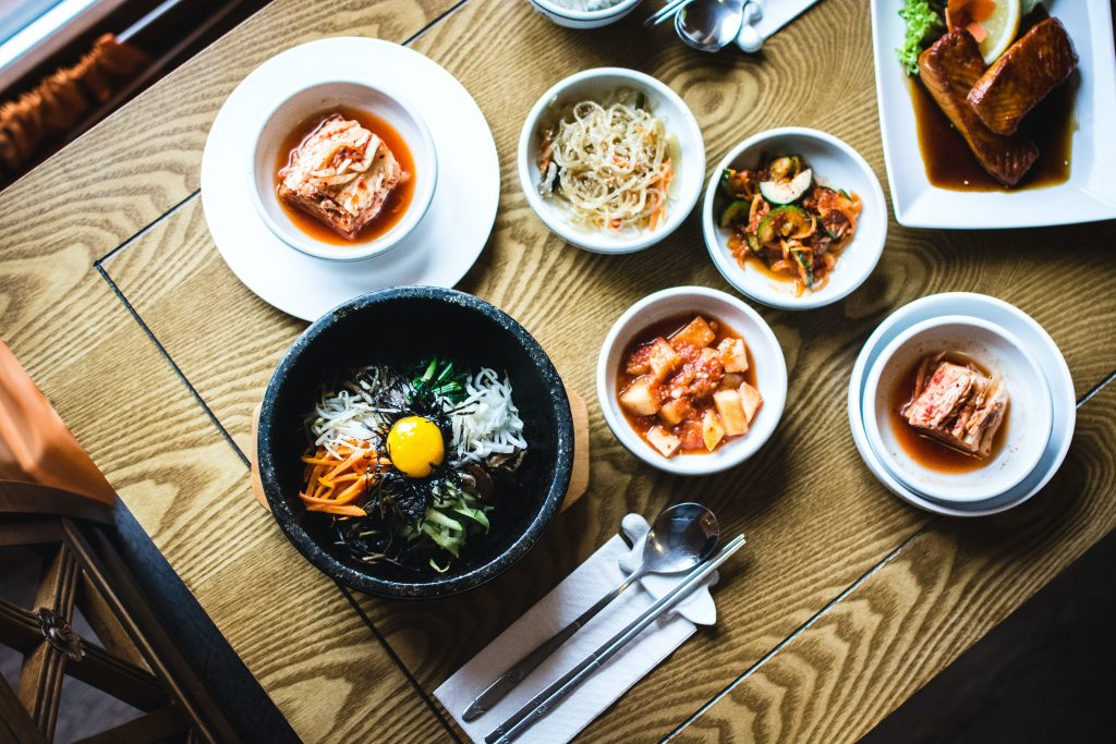Bibimbap is an example of delicious Korean food