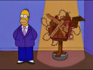 Homer the famous artist