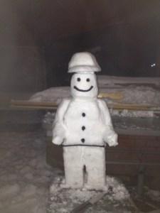 I am a Lego snowman