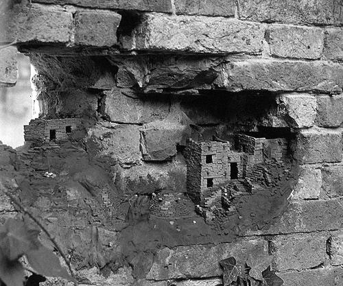 Houses hidden in the bricks