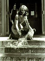 Mierle Laderman Ukeles, Maintenance Art Performance Series, 1973-74, Photograph of performance at the Wadworth Atheneum