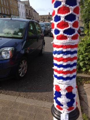 Chipping Norton is red, white and blue today