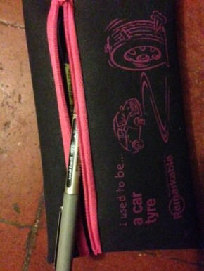 There's one poking out of my pencil case