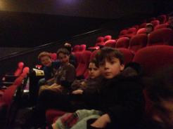 Waiting for the film to start