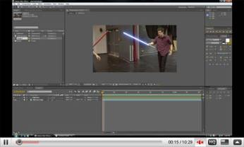 After Effects is great for making light sabers