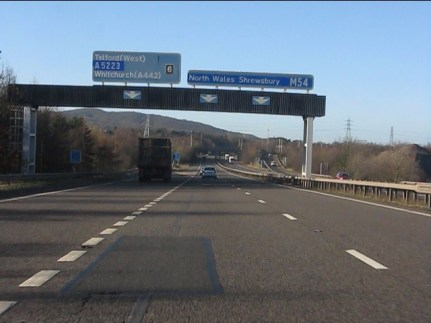 The motorway where I have lots of thoughts - the M54