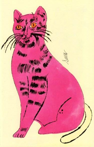 A big pink cat