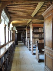 Library above east cloister