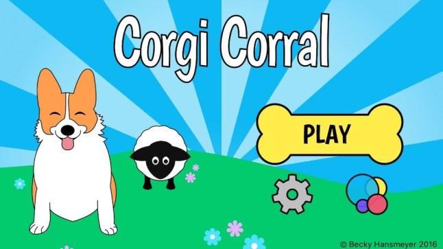 Corgi Corral Menu Screen