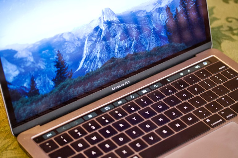 13-inch MacBook Pro with Touch Bar with real world dust