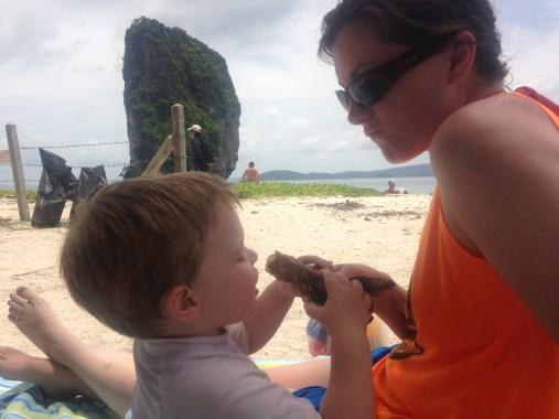 icecream break on Poda Island