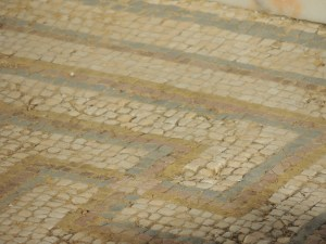 Closeup of the Roman mosaic, Algarve