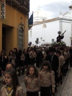 Scouts escorting