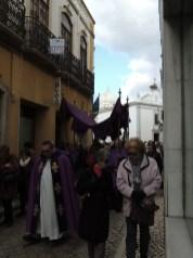 The celebrant in procession
