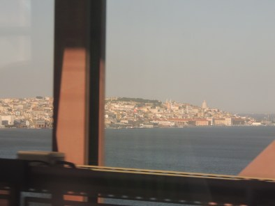 Glimpse of Lisboa from Ponte de 25 Abril