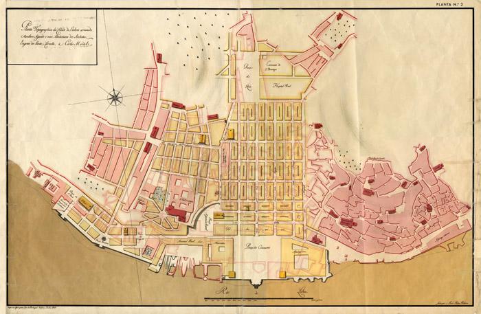 Pombaline_Baixa_Lisbon_map_1756