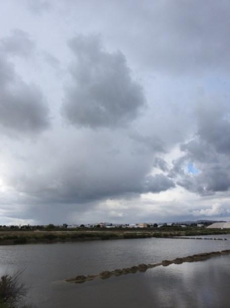 Stormy skies looking north