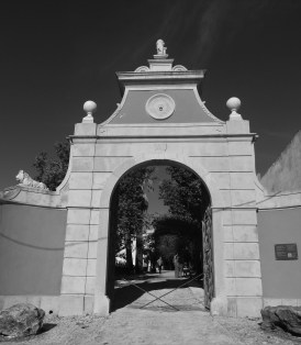 Entrance from the village square