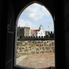 View from the keep doorway