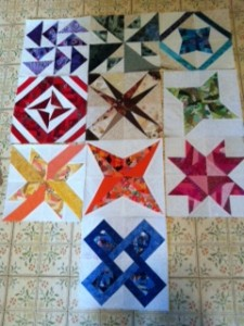 Paper pieced crazy quilt--WIP