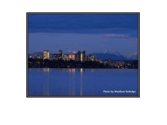 Bellevue over Lake Washington from Seattle