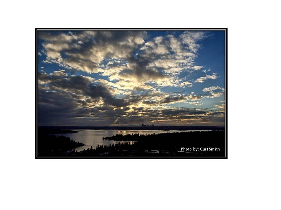 Lake Washington from a distance