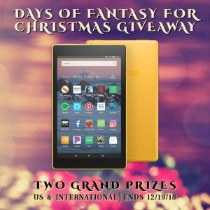Fantasy for Christmas tour giveaway graphic--2 grand prizes!