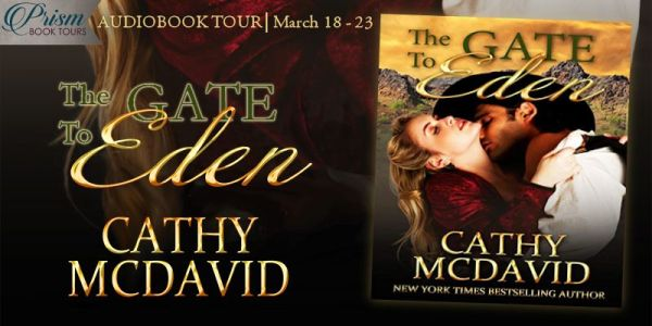 THE GATE TO EDEN by Cathy McDavid Audiobook Tour banner