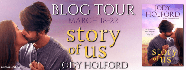 The Story of Us by Jody Holford blog tour banner