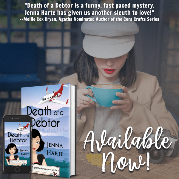 Death of a Debtor is a funny, fast-paced mystery. Jenna Harte has given us another sleuth to love!--Mollie Cox Bryan, Agatha nominated author oof the Cora Crafts series