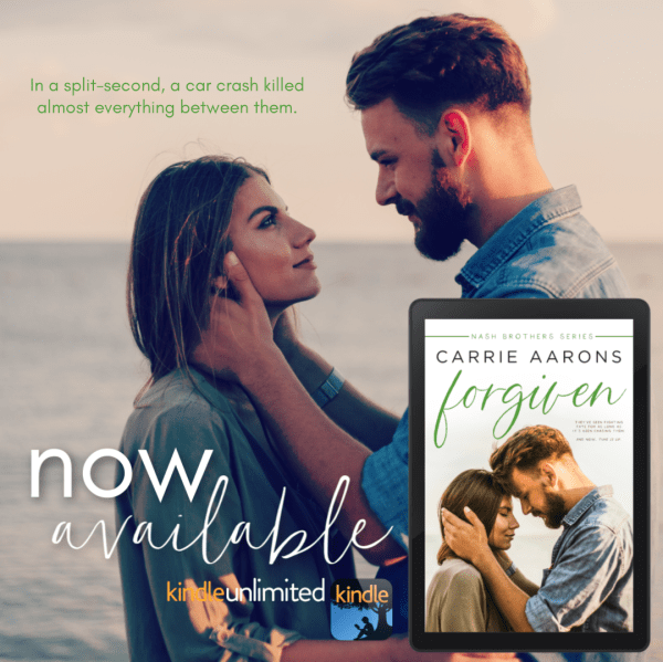 Teaser In a split second, a car crash killed almost everything between them.  FORGIVEN by Carrie Aarons  now available
