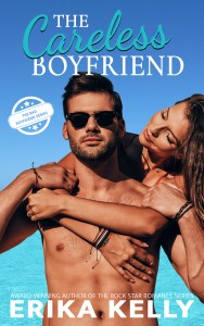 The Careless Boyfriend cover (Shirtless, sunglassed guy with scruff who has a girl hanging on his back--but all we see is her head, a shoulder and arms...what happened to her body...?)