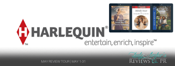 Harlequin: entertain, enrich, inspire May recommended reads tour banner