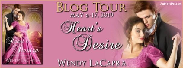Heart's Desire blog tour banner