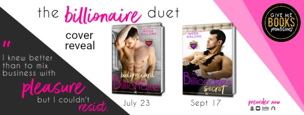 "The Billionaire Duet cover reveal banner ""I knew better than to mix business with pleasure, but I couldn't resist."""