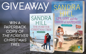 Giveaway graphic win a paperback copy of The Forever Christmas Tree