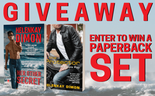 Giveaway graphic Enter to win a paperback set HER OTHER SECRET and THE PROTECTOR (Games People Play)