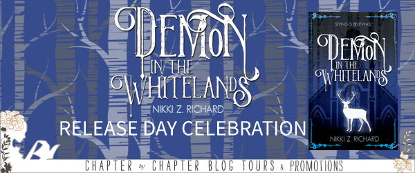 Demon in the Whitelands release day celebration banner