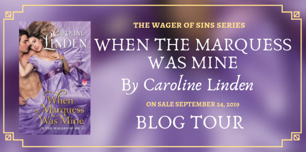When the Marquess was Mine blog tour banner