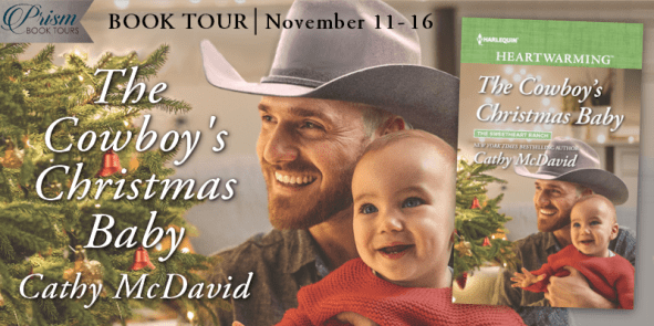The Cowboy's Christmas Baby blog tour banner