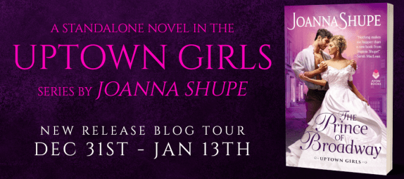 A standalone novel int he Uptown Girls series by Joanna Shupe New release blog tour banner