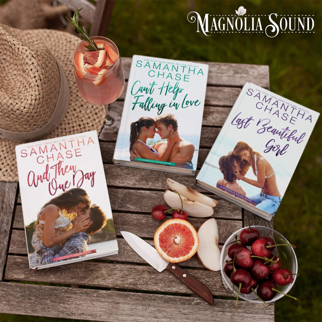 Magnolia Sound series graphic (And Then One Day, Can't Help Falling in Love, Last Beautiful Girl)