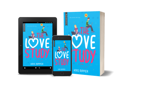 The Love Study in print, on an ereader, and on a phone screen