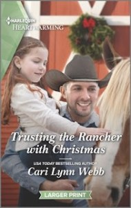 Trusting the Rancher with Christmas cover