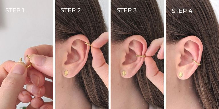 how to wear an ear cuff step by step guide