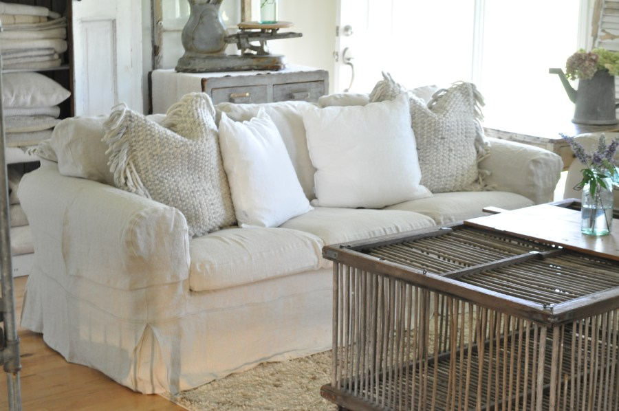 Sofa Slipcovers   Becky s Farmhouse Did you jump on the IKEA Ektorp white sofa bandwagon years ago  I sure did   It was the least expensive way to furnish our family room with enough  seating
