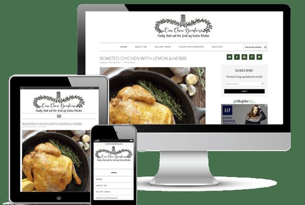 Revamped webdesign for food blog