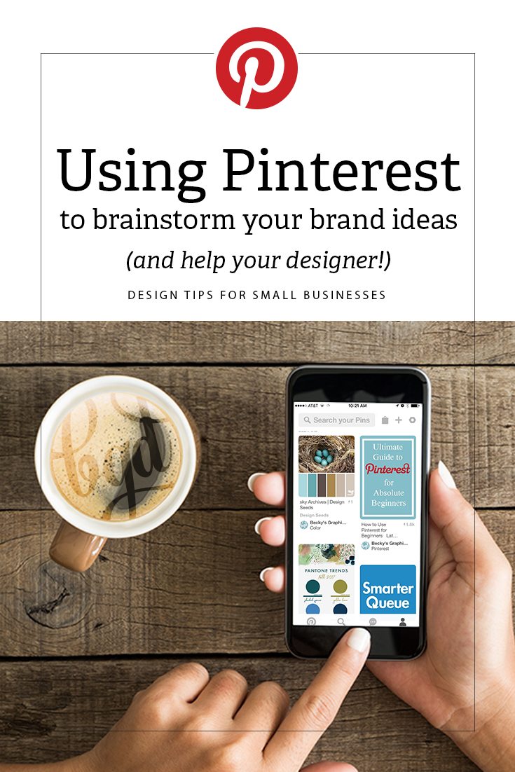 Using Pinterest to brainstorm your brand ideas (and help your designer too!)