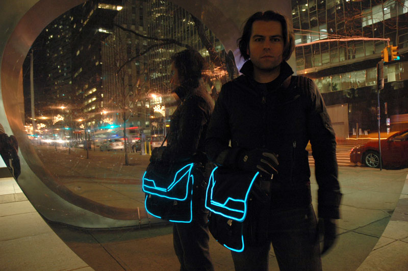 Tron Bag with EL Wire - Becky Stern